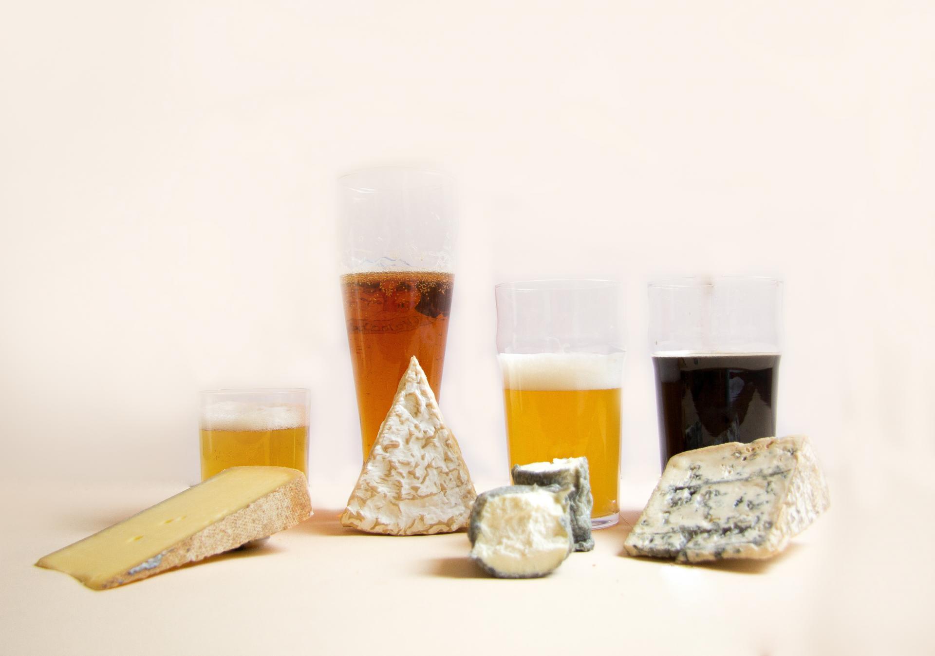 Fromage et biere